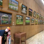 This wall contains paintings highlighting the original 21 California Missions.