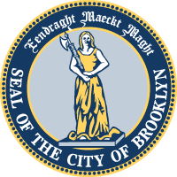 "The seal of Brooklyn means ""Strength in Unity"" in Dutch."