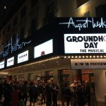 The August Wilson Theater playing Groundhog Day.