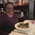 Denise had the seafood pasta al dente.