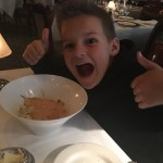 AJ really liked the Mac and Cheese with Alaska king crab and truffle sauce.