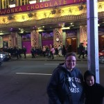 Denise and AJ in front of the theater.
