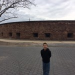 AJ in front of Battery Park that used to protect New York.